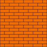 оранжевая кирпичная стена для знамени предпосылки иллюстрация вектора