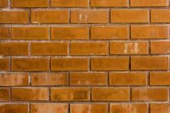 Оранжевая кирпичная стена Стоковые Фотографии RF