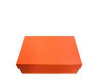 Оранжевая коробка доски на белой предпосылке Стоковые Изображения RF