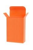 Оранжевая коробка подарка Стоковая Фотография