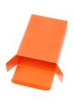 Оранжевая коробка подарка Стоковые Изображения