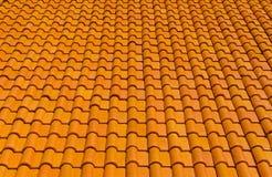 оранжевая крыша плиток для предпосылки Стоковые Фото