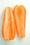 Оранжевая морковь сочная 2 половины отрезаны Стоковое Изображение RF