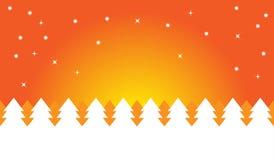 Оранжевая ноча рождества Стоковое Изображение