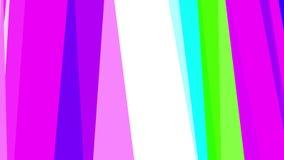 Оранжевая оживленная геометрическая абстракция, видео 4k иллюстрация штока