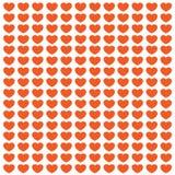 Оранжевая открытка влюбленности Бесплатная Иллюстрация