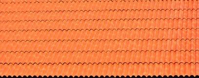 Оранжевая предпосылка крыши плиток Стоковые Изображения