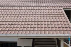 Оранжевая предпосылка крыши Стоковая Фотография RF