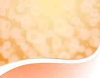 Оранжевая предпосылка с bokeh Стоковое Фото