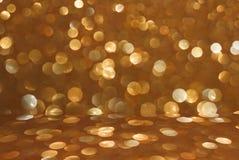 Оранжевая предпосылка текстуры bokeh яркого блеска Стоковое фото RF