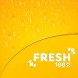 Оранжевая предпосылка, шаблон для ваших проектов 100 процентов свеже сжиманного апельсинового сока Падения воды Округленная зазуб бесплатная иллюстрация