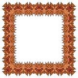 Оранжевая рамка вектора квадратный элемент Стоковая Фотография