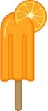 Оранжевая ручка мороженого Стоковое Фото