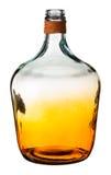 Оранжевая стеклянная бутылка Стоковое Фото