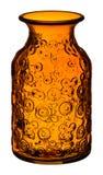 Оранжевая стеклянная ваза Стоковое фото RF
