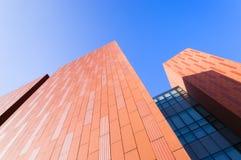 Оранжевая стена здания Стоковая Фотография RF