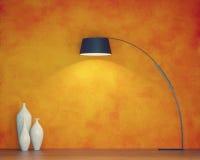 Оранжевая стена Стоковые Изображения RF