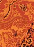 Оранжевая текстура pashmina Стоковые Фотографии RF