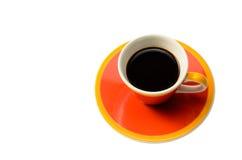 Оранжевая чашка кофе Стоковое Фото