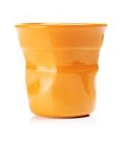 Оранжевая чашка эспрессо Стоковое Изображение RF