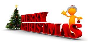Оранжевое Гай: С Рождеством Христовым к вам Стоковое Фото