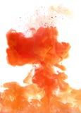 Оранжевое облако чернил Стоковое Изображение RF