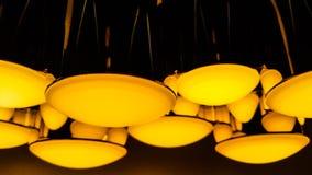 Оранжевое освещение лампы цилиндра Стоковые Фотографии RF