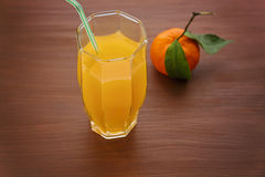оранжевое питье в стекле Стоковое фото RF