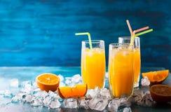 Оранжевое питье Стоковая Фотография RF