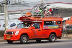 Оранжевое такси Chiangmai грузового пикапа к клыку Стоковое Фото