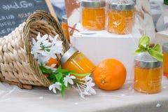Оранжевое тело scrub стоковое изображение