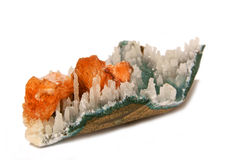 Оранжевое Stilbite стоковые фото