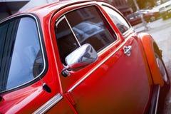 Оранжевое Volkswagen Beetle Стоковое Изображение