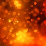 Оранжевые волшебные света, bokeh. EPS 10 Стоковые Изображения