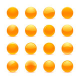 Оранжевые круглые кнопки иллюстрация вектора