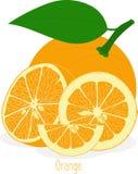 Оранжевые куски, собрание иллюстраций Стоковые Изображения