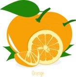 Оранжевые куски, собрание иллюстраций Стоковая Фотография