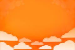 Оранжевые небо и облака Стоковая Фотография RF