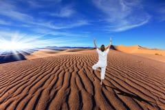 Оранжевые песчанные дюны в Death Valley Стоковое Изображение