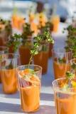 Оранжевые пить с базиликом Стоковое Изображение RF