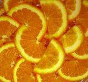 Оранжевые половинные куски Стоковое Изображение