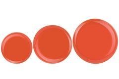 Оранжевые плиты на белой предпосылке Стоковое Изображение RF