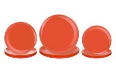 Оранжевые плиты на белой предпосылке Стоковые Фото