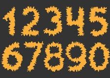 Оранжевые режа номера иллюстрация штока