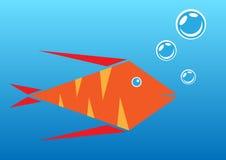 Оранжевые рыбы аквариума Иллюстрация вектора