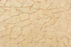 Оранжевые сломленные плитки для среднеземноморского дизайна стены стоковые фотографии rf