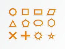 Оранжевые формы Стоковое фото RF