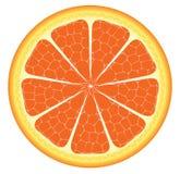 Оранжевые часть или кусок Стоковые Изображения RF