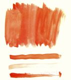 Оранжевые элементы акварели для дизайна Стоковое фото RF