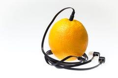 Оранжевый аудиоплейер Стоковая Фотография